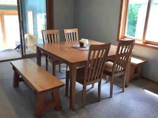 Dining room table that seats 8 comfortably