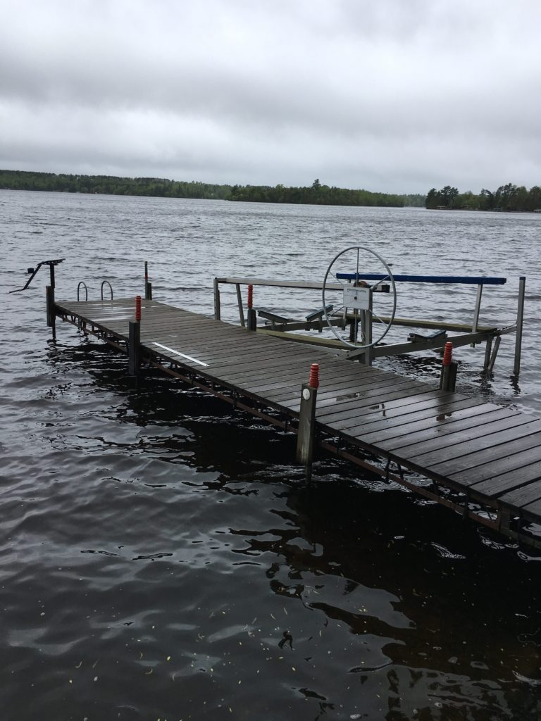 30 foot dock, one side available for tie-up (don't forget your bumpers!)