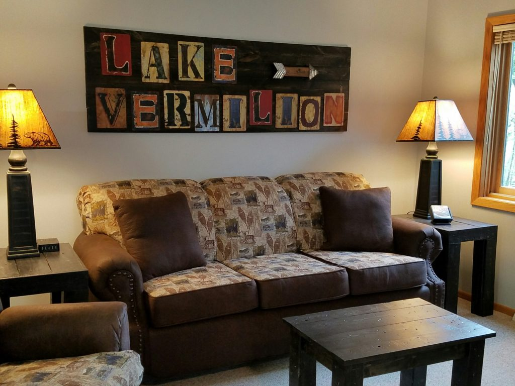 Enjoy views of Lake Vermilion from the lake facing living room!  Brand new furniture in 2017!