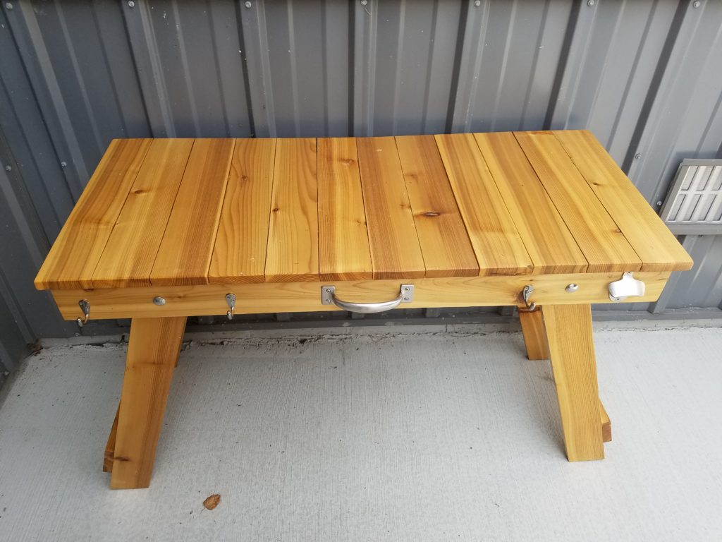 Handy table to use while grilling