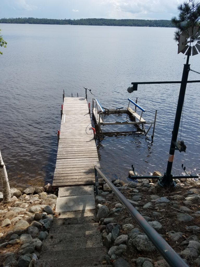 30 foot dock, one side available for tie-up (don't forget your bumpers!)  **WILL BE EXPANDING TO 50FT in 2018!